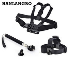 Chest Belt Head Strap Mount for GoPro Hero 5 4 3+ 3 Tripod Monopod For Xiaomi Yi 2 4K Go Pro Sjcam Action Camera Accessories