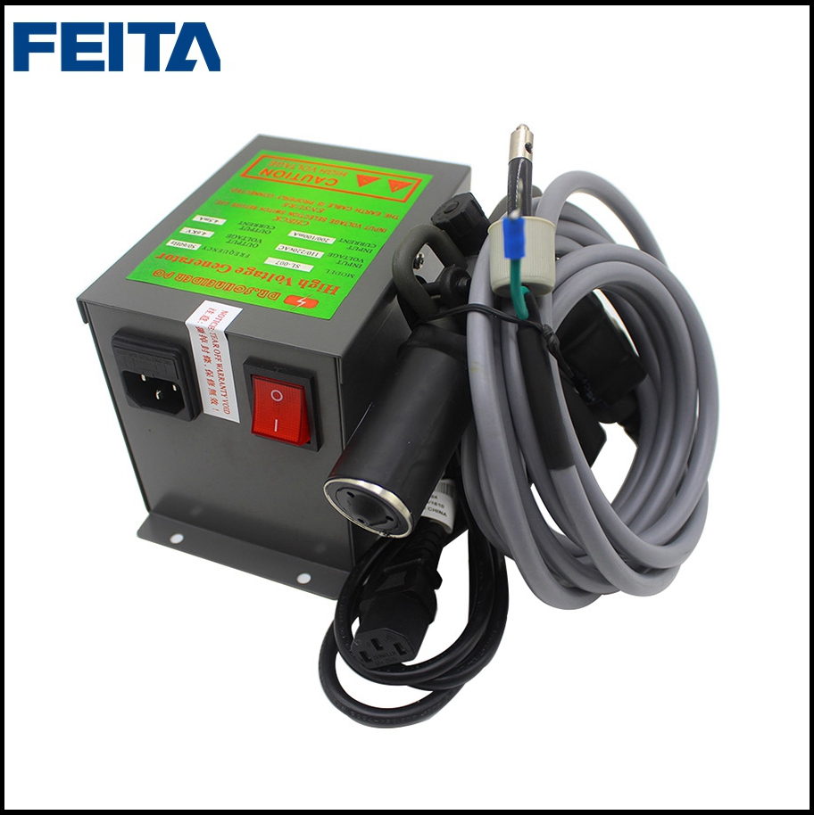 FEITA SL-004C Ionizing Air Spray Gun + SL-007 HV Power Supply Ionizer Gun for Static and ...