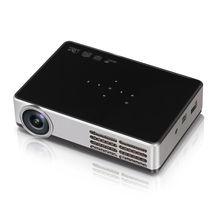 DLP-600W Android 4.4 1080 P Mini WiFi 3D HD Cine Teatro USB Proyector LED Para PC portátil Envío gratis
