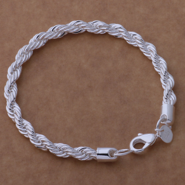 AH254 Hot 925 βραχιόλι ασήμι 925 ασημένια - Κοσμήματα μόδας