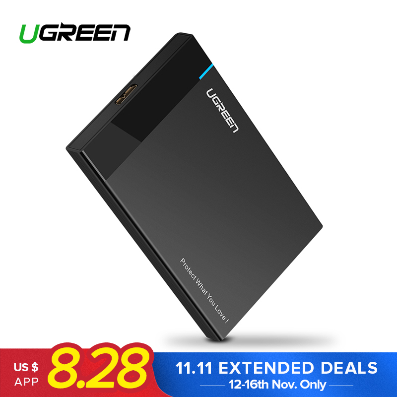 Ugreen HDD Fall 2,5 zoll SATA zu USB 3.0 SSD Adapter für SSD 1 tb 2 tb Typ C Festplatte stick Box Externe HDD Gehäuse