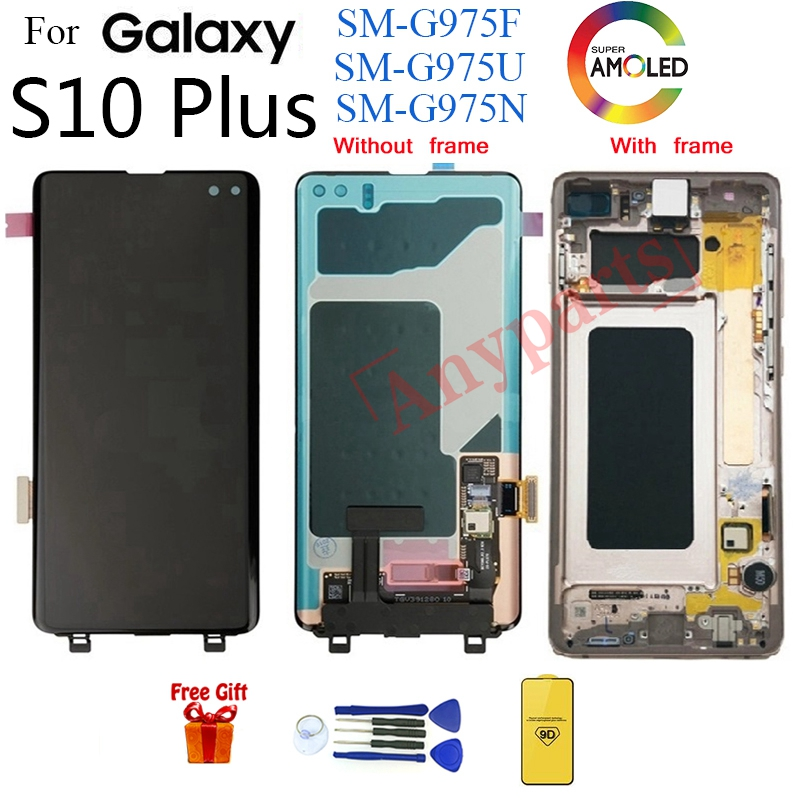 AMOLED For SAMSUNG S10 Plus G975 G975F Display LCD Screen replacement for  samsung Galaxy S10 Plus G975U G975N lcd display module