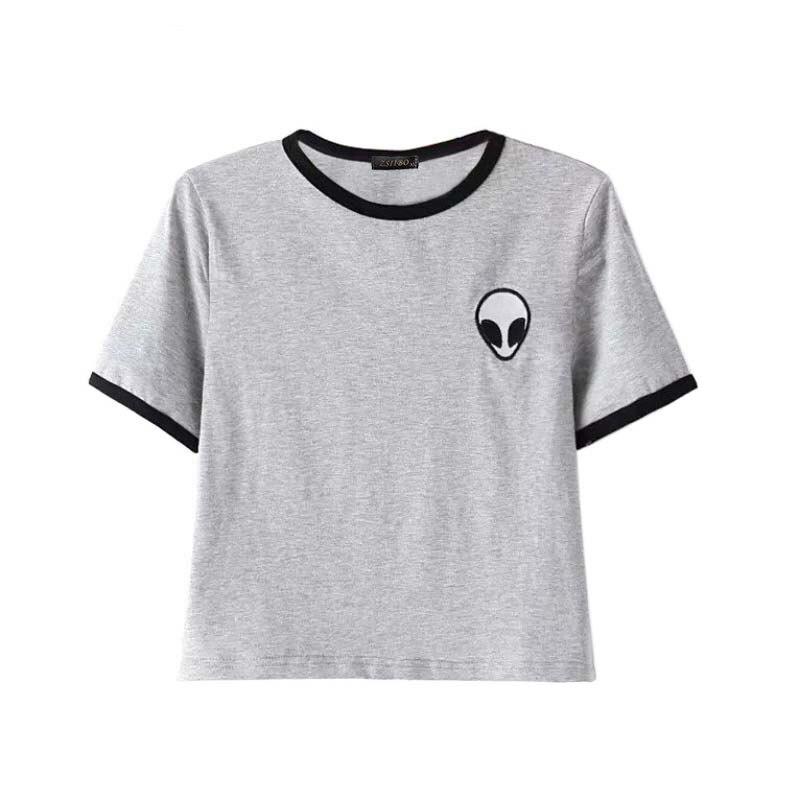 Женская футболка летние Чужой печати одежда Футболки для женщин Футболка Femme Camisetas poleras де mujer женские футболки nv10-c