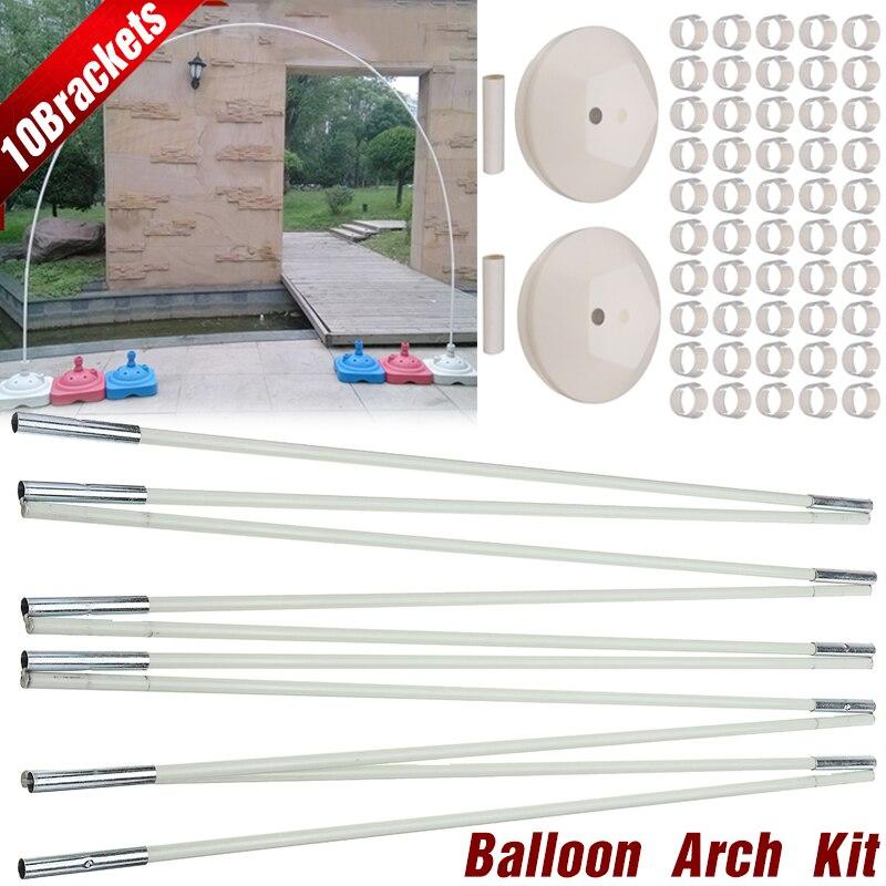2 taille Ballon Arc Ensemble Avec 8 Supports Cadre 2 Bases 50 Boucles et 2 Connectores Kits Pour Le Mariage D'anniversaire partie Décorations