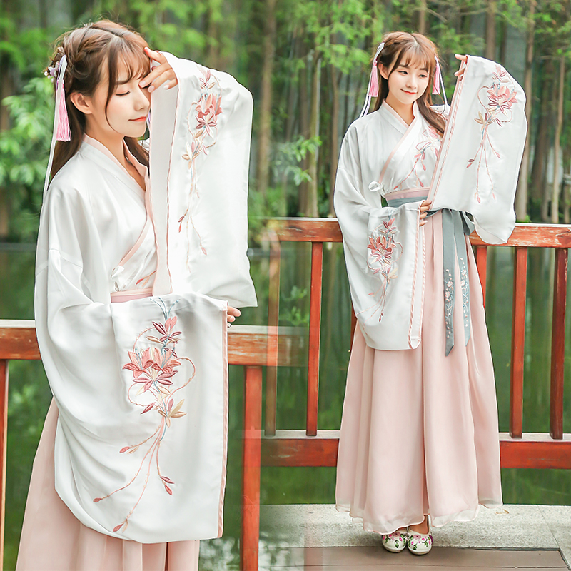 New Arrive Women Chinese Hanfu Costume Chinese Folk Ancient Costume Vintage Orient Tang Dynesty Cosplay Costume