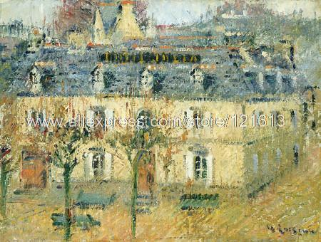 Gustave Loiseau Hotel Julia Pont Aven On Hand Painted Abstract Wall ...