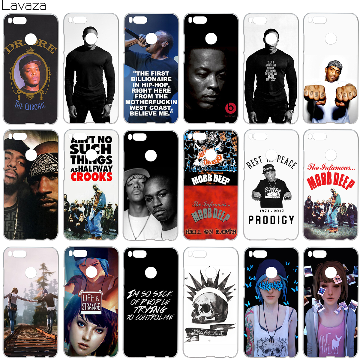 Lavaza Dr. Dre Mobb Deep Life Is Strange Case for Xiaomi Redmi Note 4X MI A1 4 5 6 Plus 4A MI6 Pro 5A ...
