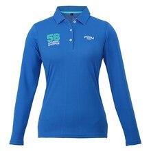 020256 womens long sleeve polo shirts sport Leisure ladies Golf clothing autumn winter etements golf femmes tshirt blue