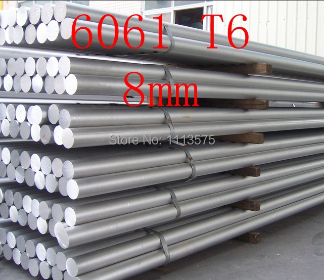 8mm 6061 T6 Al Aluminium Solid Round Bar Rod