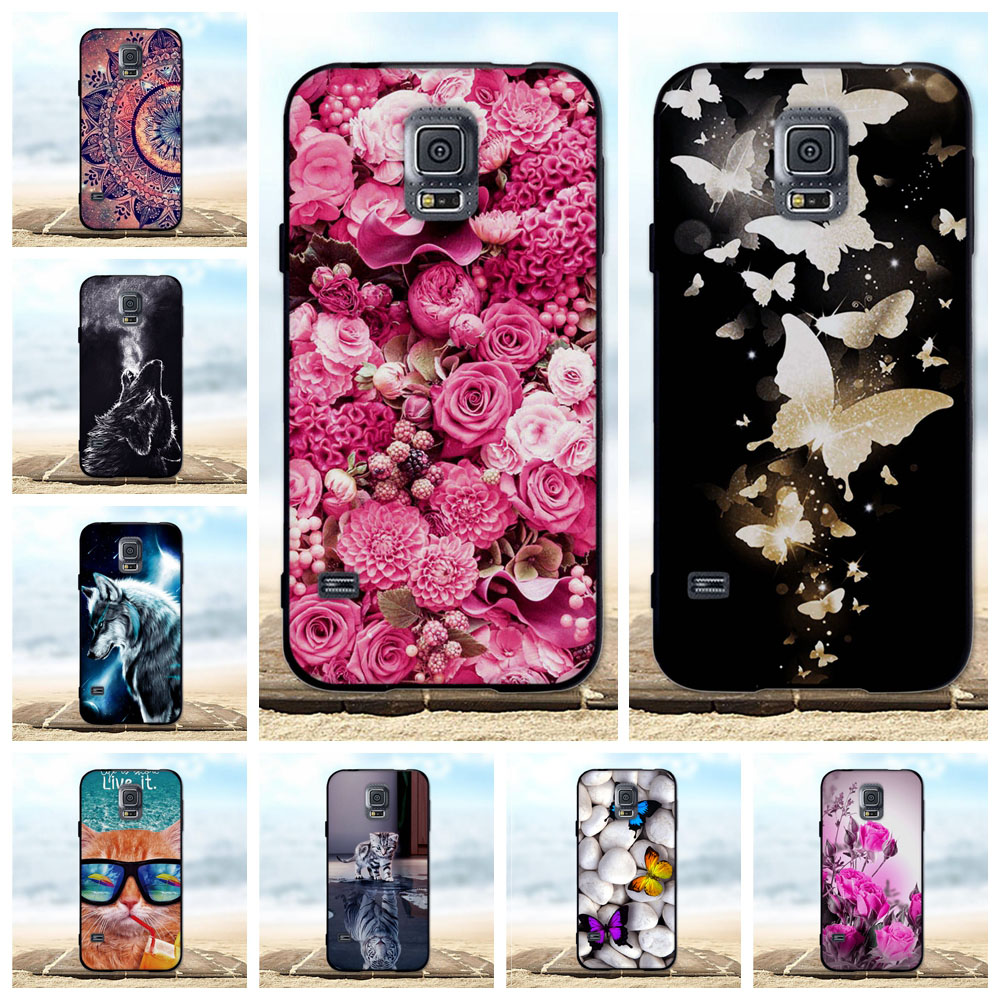 Shell Case Black Samsung Galaxy Cover Soft-Silicone For S5 I9600 G900F TPU 3D 903F Neo