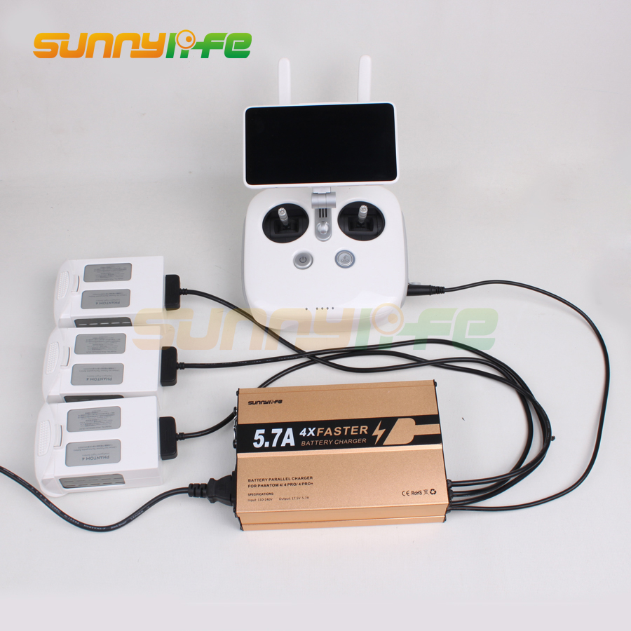 Sunnylife Battery Parallel Charging Hub Remote Controller Charger for DJI Phantom 4 4 PRO 4 PRO