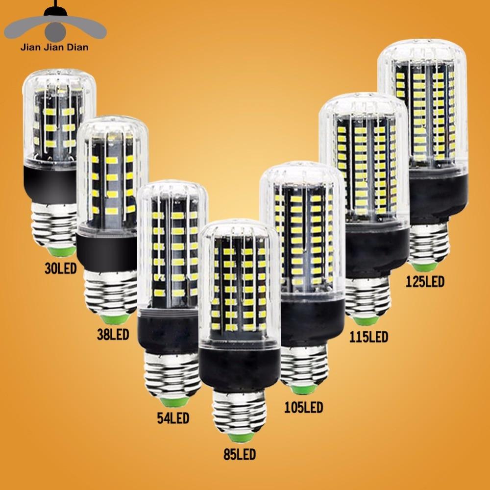 JJD E27 LED Lamp E14 LED Corn Bulb Lampada 24 36 48 56 69 72LEDs Chandelier Candle LED Light SMD5730 220V For Home Decoration led bulbs light lamps e27 e14 5730 220v 24 36 48 56 69leds led corn led bulb christmas lampada led chandelier candle lighting