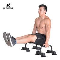 ALBREDA 1Pair Multifunction Push Ups Stands I Type Home Fitness Equipment Handles Bodybuilding Rack Sports Muscular Training