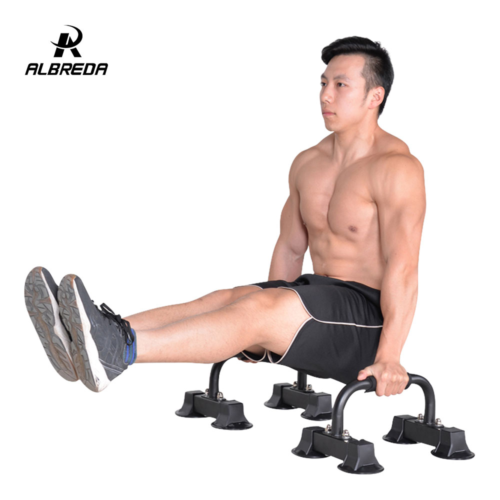 ALBREDA 1Pair Multifunction Push Ups Stands I Type Home Fitness Equipment Handles Bodybuilding Rack Sports Muscular Training