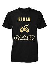 man t-shirt Ethan Gamer. Cool Gift – Unisex Tshirt