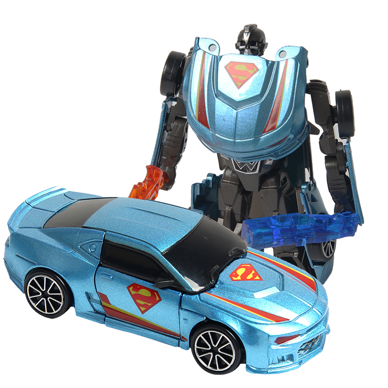 Classic Transformation Plastic Robot Cars Action Toy Figures 1:43 Education Toy Best Gifts for Childrens Transformation Robot