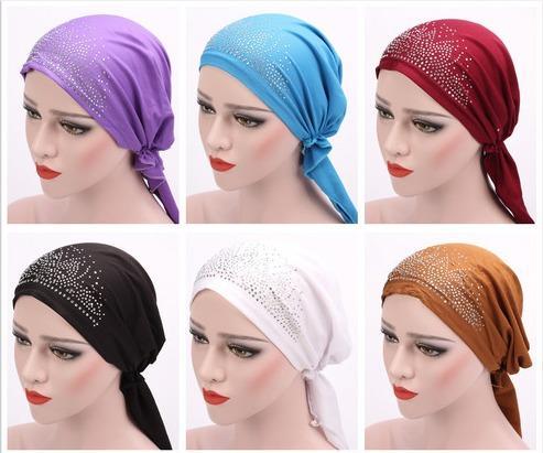 New Muslim Woman Inner Hijabs Hats Turban Head Cap Hat Beanie Ladies Muslim Scarf Cap Hair Loss Chemo Cancer Arab Headwear