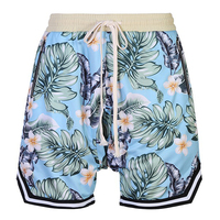 018 Summer Men's Bermuda Shorts Fashion Casual Loose Straight Floral Pattern Beach Shorts Male Bottoms Men Short Pants Plus 8XL