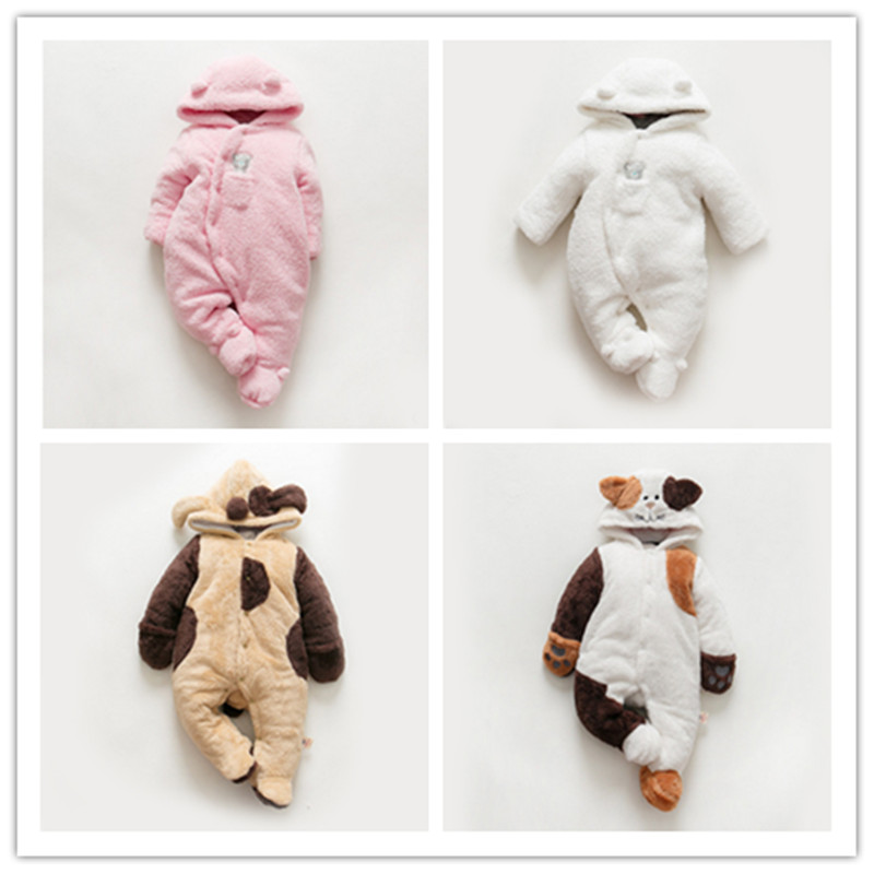 Baby Christmas Rompers Winter Jumpsuit Fleece Romper For Boys Clothes Warm Newborn Baby Girls Clothing Infant Bebe Costumes