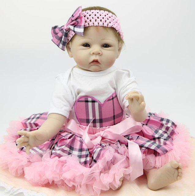 741e2e4dc5c 22Inch 55cm Silicone Reborn Baby Dolls Very Soft Alive Baby Doll Lifelike  Look Real Doll Princess Birthday Gift