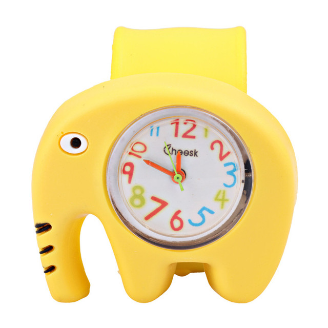3D Children's Watch Cartoon Silicone Toys Watches elephant for Kids Multicolor p