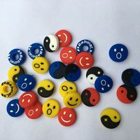 100 Pcs Lot Assorted Types Smiles Taichi Tennis Racket Shock Absorber Tenis Racquet Vibration Dampeners
