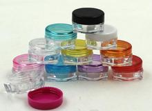 Cor da mistura 5g Pequeno Vazio Garrafas Reutilizáveis Cosméticos Eyeshadow Face Maquiagem Creme Pote Jar Recipiente de Plástico Garrafa