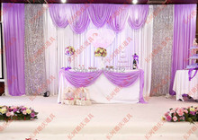 Romantic Stage Backdrop with Detachable Swag Top-rated 10ft*20ft Party wedding Backdrop Deluxe stage decoration