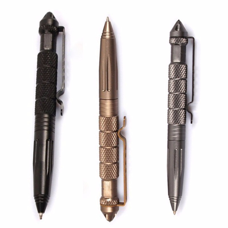 Selvforsvar Tactical Pen Cooyoo Aviation Aluminium Anti-Slide Portable Tool for Travel Camping Vandreture