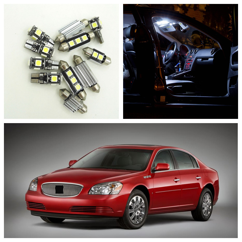 2006 Buick Lucerne Price: 10pcs Xenon White LED Light Bulbs Interior Package Kit For