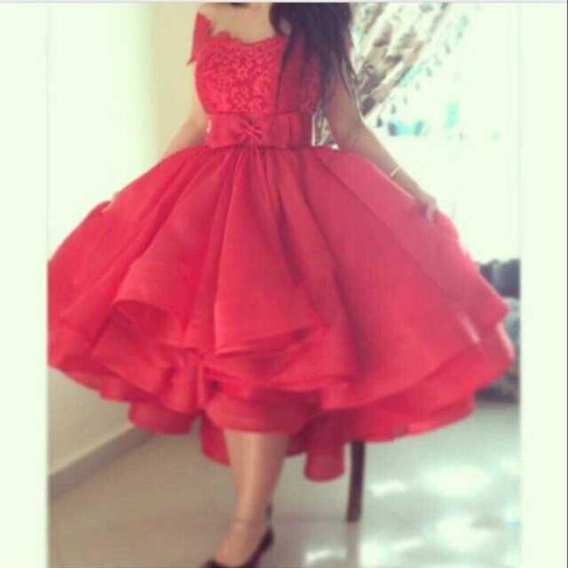 2016 Hot Pink Illussion Jewel V Neck Appliqued Short Sleeve Tea Length Cocktail Dresses