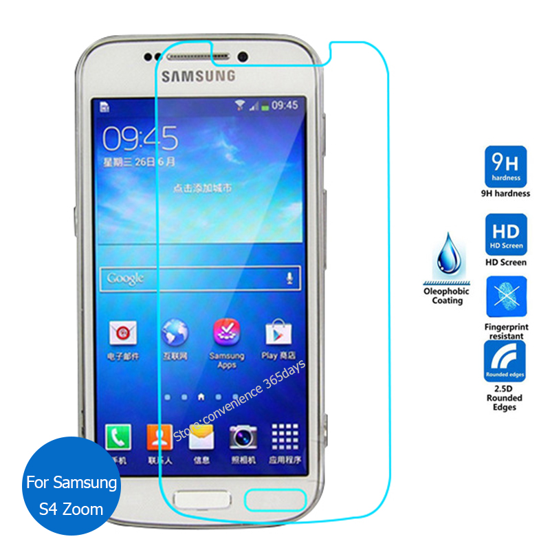 2PCS For <font><b>Samsung</b></font> Galaxy <font><b>S4</b></font> zoom Tempered <font><b>Glass</b></font> Screen Protector 9h Protective Film on SM C101 C105 <font><b>S4</b></font> <font><b>Mini</b></font> S 4 SM-C101 SM-C105 image