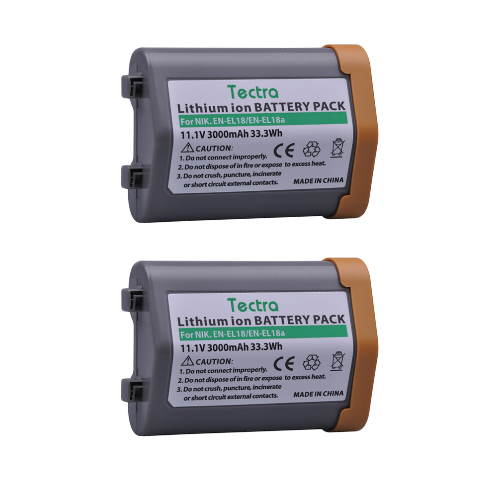2Pcs Battery for Nikon EN-EL18, EN-EL18a, EN EL18a, ENEL18, EN EL18, ENEL18a, MH26a, MH-26a, MH-26 and Nikon D4, D4S, D5 Camera en