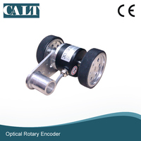 Calt GHW52シリーズホイール光学式エンコーダ生地測長センサデバイスで2車輪(境界200ミリメートル) -