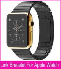 De calidad superior negro plata brazalete de eslabones para Apple venda de reloj 42 mm 38 mm por By acero inoxidable 316L con extra de dos gemelos como regalos