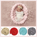 11colors New American Baby Photography Props Infant Twist Braid Iceland Wool Handmade Woven Blankets Newborn Photoprops