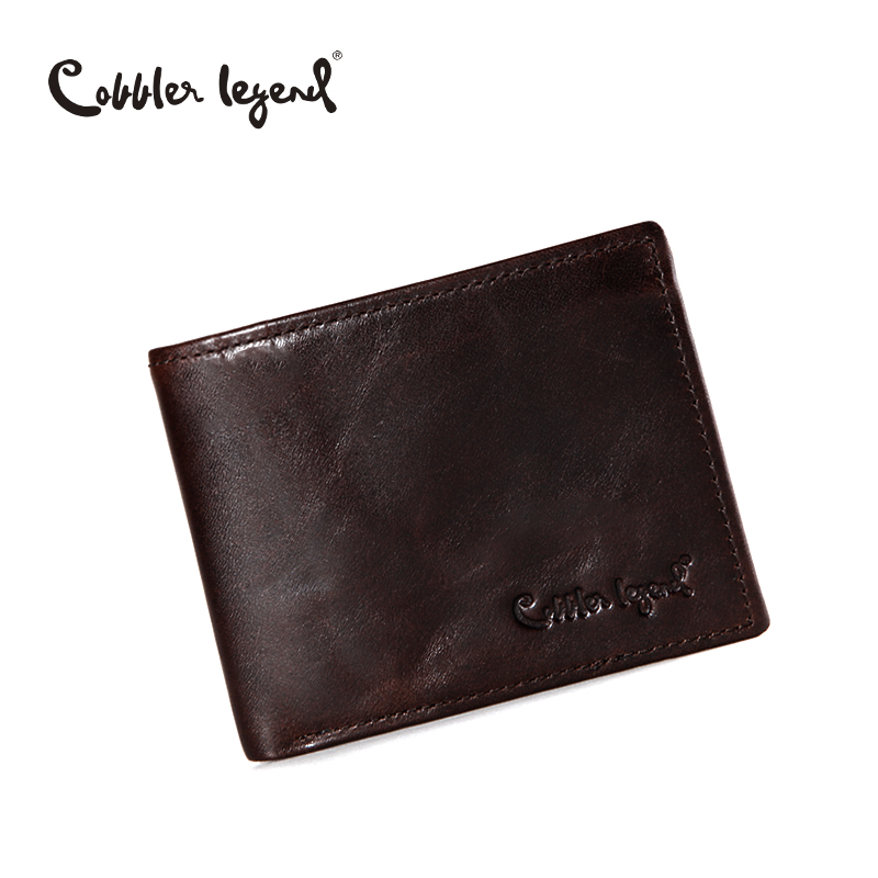 Cobbler Legend Famous Brand Genuine Leather Men Wallets Handmade Men's Wallet Male Money Purses Coins Wallet With ID Card Holder hot sale leather men s wallets famous brand casual short purses male small wallets cash card holder high quality money bags 2017