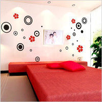 3D Stereoscopic Wall Stickers Living Room Decorative Wall Sticker Bedroom Home Decor Kids Room TV Wall