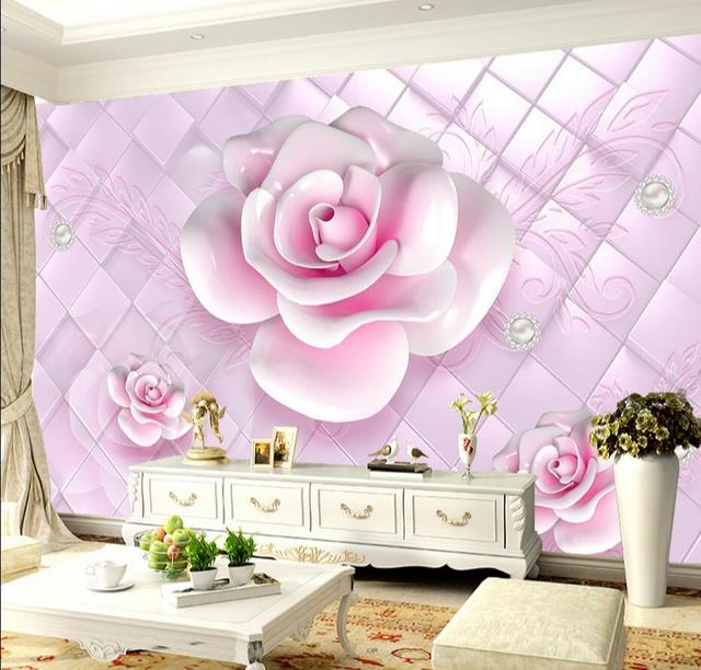 Pink Flower Photo Wallpaper Mural 3d Large Custom Any Size for ...