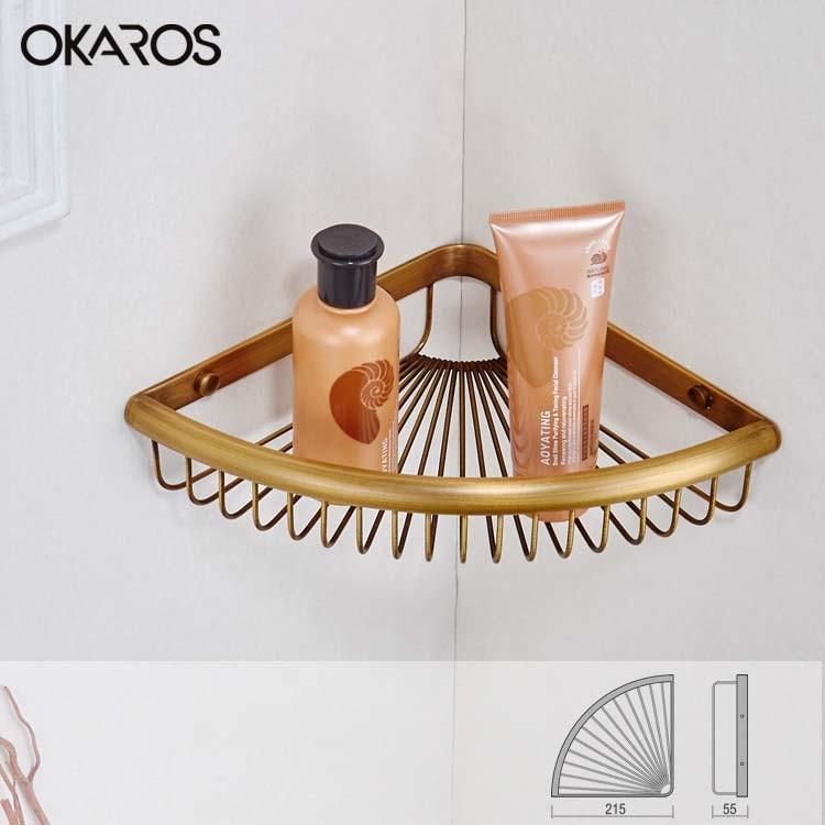 Bathroom Shelf/Shelves Triangle Carrying Basket Storage Basket Rack ...