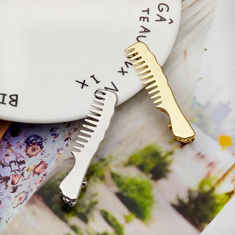 1 Pcs/מכירה אופנה מתכת עלה צורת פרל שיער קליפ סיכות סיכת ראש סיכת נוצת זהב ציפורני שיער שיער סטיילינג כלי # S01
