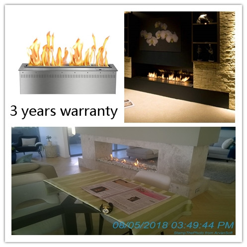 36 Inch Silver Or Black Real Fire  Intelligent Auto Bioethanol Fireplaces