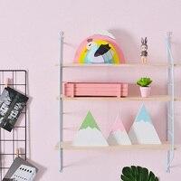 2019 Hot Selling Storage Racks Home Decoration Wooden Hanging Shelf 3 Tier Wall Display Rack DIY