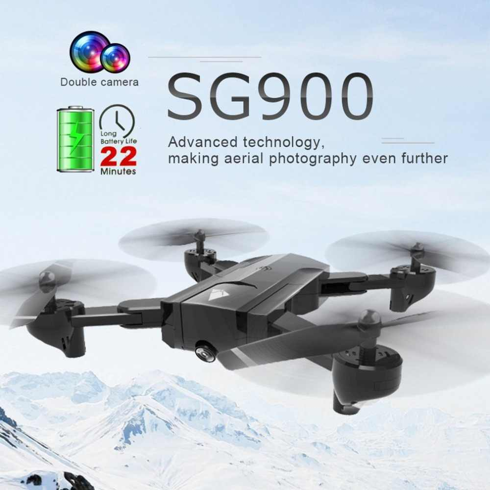 SG900 Foldable Quadcopter 720P Drone Quadcopter WIFI FPV Drones Optical  Flow Positioning RC Drone Helicopter With Camera hi