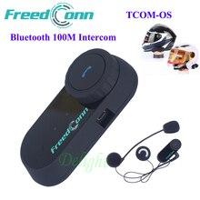 FreedConn TCOM-OS Estéreo Bluetooth Manos Libres Auricular de La Motocicleta Del Intercomunicador Del Casco de Auriculares 100 M Casco de la Motocicleta Auriculares