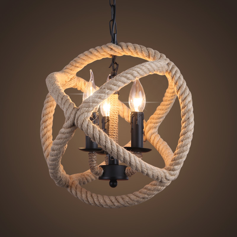 vintage rope pendant light suspension lights dining room deco suspension lighting fixtures lampade a sospensione industrial цена