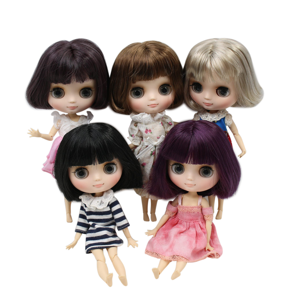Dolls & Stuffed Toys Sensible Icy Nude Factory Middie Blyth Doll No.7 Bobo Hair Frosted Skin 20cm 1/8 Joint Body Doll,hand Gesture As Gift Neo