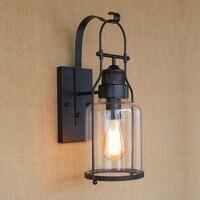 خمر وحدة إضاءة LED جداريّة مصابيح البلاد الأمريكي الرجعية الصناعية مستودع أضواء الجدار E27 حامل مطعم Loft دراسة المنزل ZBD0030
