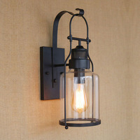 Vintage LED Wall Lamps American Country Retro Industrial Warehouse Wall Lights E27 Holder Restaurant Loft Study Home ZBD0030