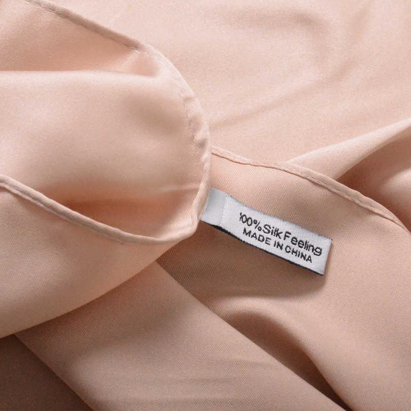 [BYSIFA] Nuove Donne di Colore Solido Grande Piazza Sciarpe Involucri 100*100 centimetri Autunno Inverno di Lusso Opaco Raso marca Sciarpa di seta Testa Sciarpa